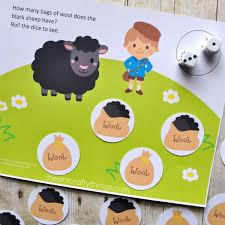 baa baa black sheep preschool counting game printable heart
