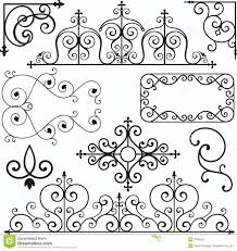 wrough iron ornaments stock photography image 3739492 swirls