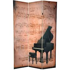 Room Dividers 6 Ft Tall Double Sided Music Room Divider Piano Phonograph