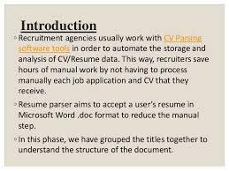 Resume Parsing Software Document Parser Ppt