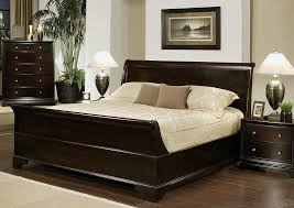 Wooden King Size Bed Frame Espresso Glossy Oak Wood King Size Bed The Best Wood Furniture