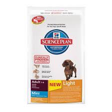 science diet light dog food hill s science plan canine mini light dog food 2 5kg