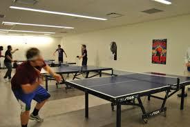 ping pong table playing area table tennis the hub