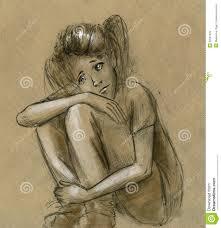 sad teen stock illustration image 39557359