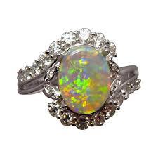 natural gem rings images Bright colorful opal diamond ring opal engagement ring flashopal jpg