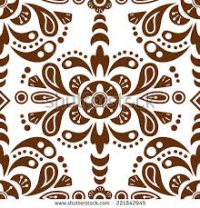 floral damask seamless pattern background mexican stock vector