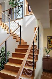 contemporary stair railing for contemporary staircase with condo