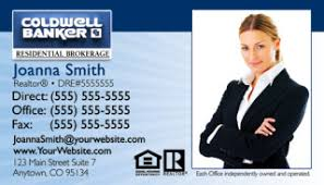 Realtor Business Card Template Coldwell Banker Business Card Templates Cheap Prices