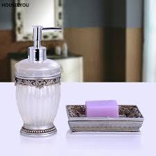 online shop resin elegant bathroom accessories set 2pcs set soap