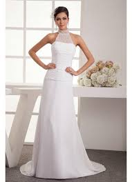 halter style wedding dresses new halter style a line chiffon wedding dress