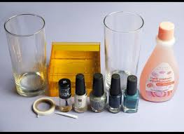create beautiful diy marbleized glass using nail polish photos
