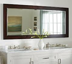 Espresso Bathroom Mirrors Classic Double Wide Mirror Pottery Barn