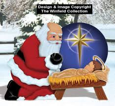 santa and baby jesus picture santa elves santa with baby jesus wood pattern