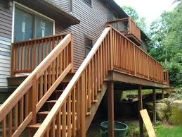 wood outdoor stairs how to install outdoor stair railing outdoor