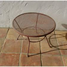 Patio Round Tables 1950s Vintage Mid Century Wire Mesh Patio Round Table Furniture
