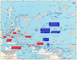 Map Of Pacific Map Of Wwii Western Pacific April July 1944