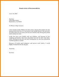 example of recommendation letters sample recommendation letter
