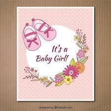 baby girl cards its a baby girl card vector free
