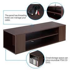Dvd Movie Storage Cabinet Shelves Glass Shelf Dvd Wall Mount Home Furniture Living Room
