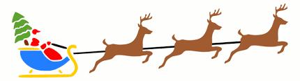 santa sleigh and reindeer santa sleigh and reindeer clipart