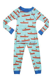 organic boys pajamas boat print organic boys pajamas made in usa