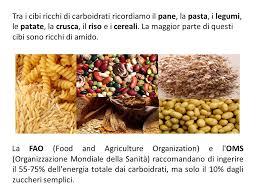 alimenti ricchi di glucidi i carboidrati ricerca in ppt scaricare