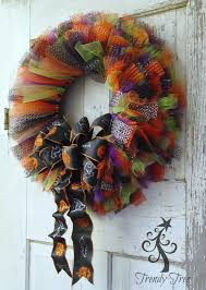 ribbon wreath tulle ribbon wreath tutorial trendy tree