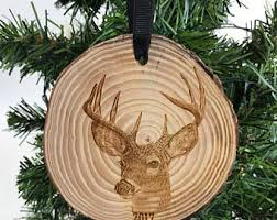 deer ornament etsy