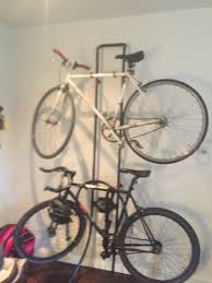 bikes best way hang bikes from garage ceiling vertical bike