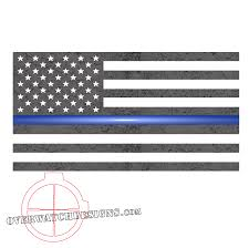 Subdued American Flag With Thin Blue Line Thin Blue Line Subdued Flag Overwatch Designs