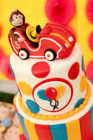curious george cake topper birthday party ideas curious george at the drive in