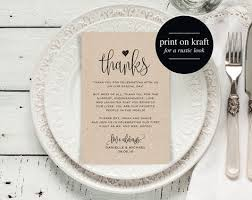 this listing is for a thank you place setting card pdf instant