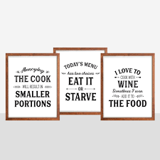 set of kitchen prints kitchen quotes funny kitchen signs
