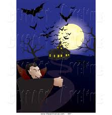 haunted houses clipart avenue clipart of silhouetted flying bats and a full moon over a