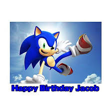 sonic the hedgehog cake topper 1 4 sheet sonic the hedgehog edible frosting cake topper 76420
