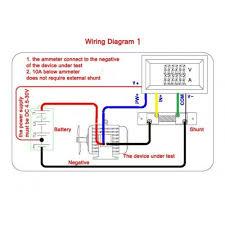 dc digital voltmeter u0026 ammeter dual led color 2in1 w shunt