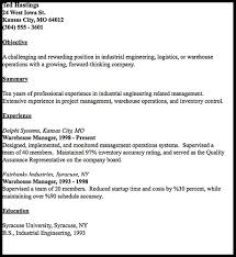 Sample Resume For Warehouse Manager by How To Write Resume Warehouse Resumedoc