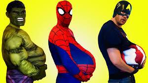 spiderman hulk u0026 captain america pregnant prank elsa spiderman