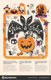lovely holiday happy halloween flyer template with funny and