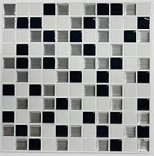 roommates black white mosaic peel and stick tile backsplash 4