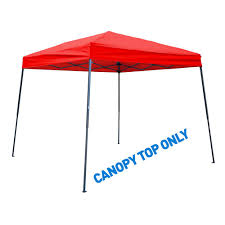Bbq Grill Gazebo Home Depot by Trademark Innovations 8 Ft X 8 Ft Red Square Replacement Canopy