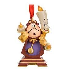 disney store cogsworth and lumiere ornament kitchen