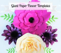 giant flower templates giant paper flower wall svg flower