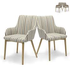 Patterned Dining Chairs Retro Fabric Dining Chairs Brown Tweed Or Blue Stripe