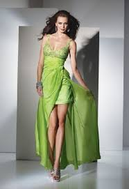 green and yellow prom dresses classical beaded and bubble