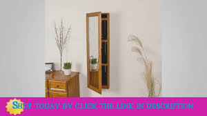 sei wall mount jewelry armoire with mirror youtube