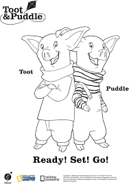 toot and puddle coloring pages coloring home