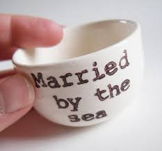 Wedding Ring Holder by Wedding Ring Dish Married By The Sea Ring Holder Remember Beach