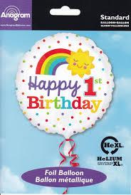 helium balloon delivery in selangor ana34528 1st birthday rainbow balloondelivery my