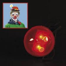 Led Light Halloween Costume Light Rudolph Nose Led Flashing Red Blinking Clown Reindeer